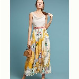 NWT Anthropologie Mischa Maxi Skirt